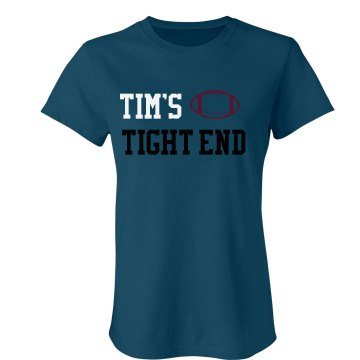 Tim's Tight End Junior Fit Bella Sheer Longer Length Rib Tee
