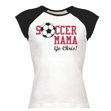 Soccer Mama Junior Fit Bella 1x1 Rib Cap Sleeve Raglan Tee