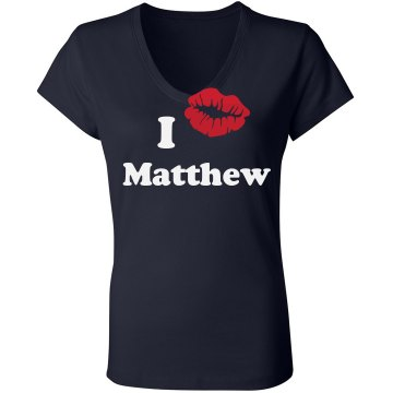 I Love Matthew Junior Fit Bella Sheer Longer Length Rib V-Neck Tee