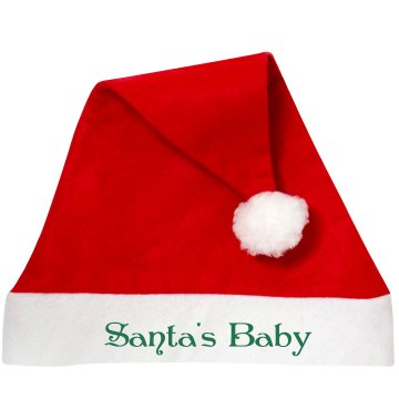 Santa's Baby Hat Personalized Santa Hat