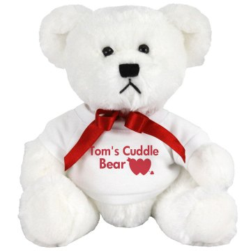Tom's Cuddle Bear Medium Plush Teddy Bear