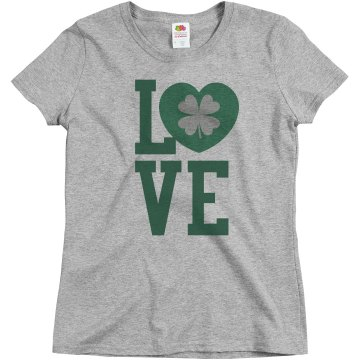 Love St. Patty's Day Misses Relaxed Fit Basic Gildan Ultra Cotton Tee