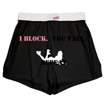 Block. Fall. Repeat.  Junior Fit Soffe Cheer Shorts