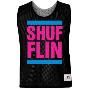 Shufflin LAX Text Jersey Badger Sport Lacrosse Reversible Practice Pinnie
