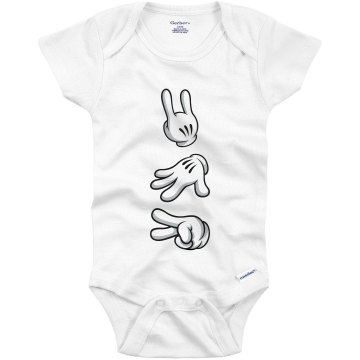 AB CD Baby Rock Infant Rabbit Skins Lap Shoulder Creeper