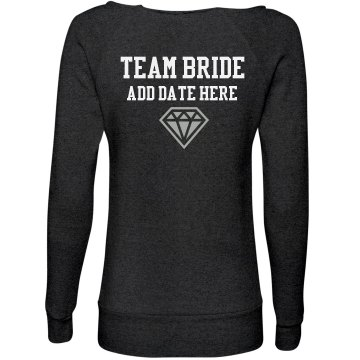 Team Bride French Terry Junior Fit Bella Fleece Raglan Zip Hoodie