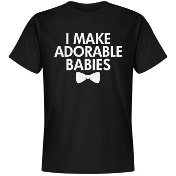 Maker Of Adorable Babies Unisex Gildan Heavy Cotton Crew Neck Tee