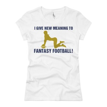 Real Fantasy Football Junior Fit Basic Bella Favorite Tee