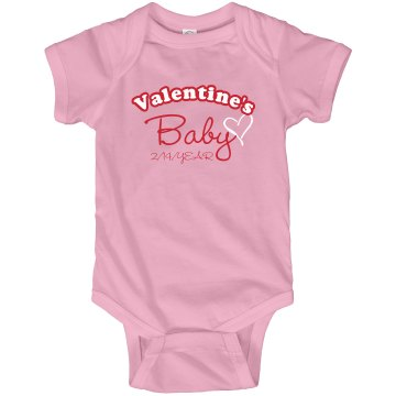 Valentine&#x27;s Baby Infant Rabbit Skins Lap Shoulder Creeper