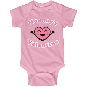 Mommy's Valentine Onesie Infant Rabbit Skins Lap Shoulder Creeper