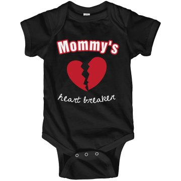 Mommy&#x27;s Heart Breaker Infant Rabbit Skins Lap Shoulder Creeper