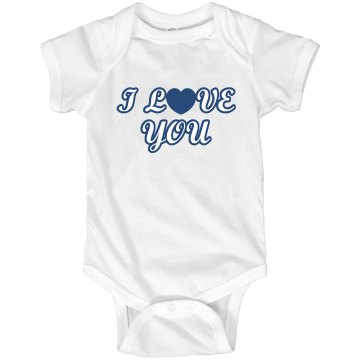 I Love You Infant Rabbit Skins Lap Shoulder Creeper