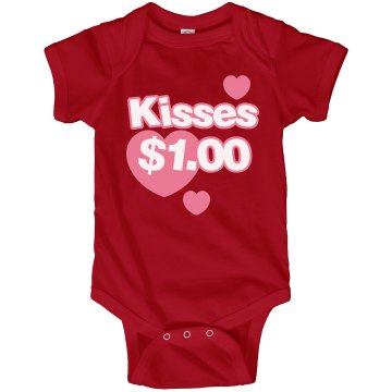 Kisses $1.00 Infant Rabbit Skins Lap Shoulder Creeper