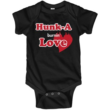 Hunk-A Burnin' Love Infant Rabbit Skins Lap Shoulder Creeper