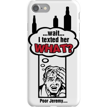 Drunk Texting Cover Plastic iPhone 5 Case Black