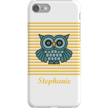 Custom Owl iPhone 5 Case Plastic iPhone 5 Case White