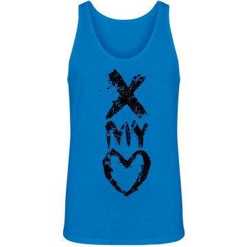 Neon Cross My Heart Unisex American Apparel Neon Tank