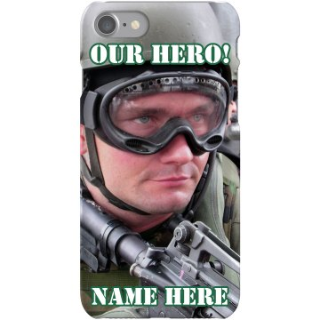 Military Soldier Photo Plastic iPhone 5 Case Black