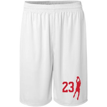 Basketball Player Number Badger Sport B-Core Youth 6 Inch Short