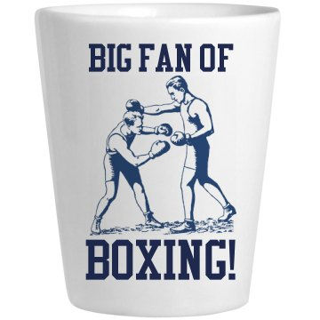 Boxing Drinking Game Shot Ceramic Shotglass
