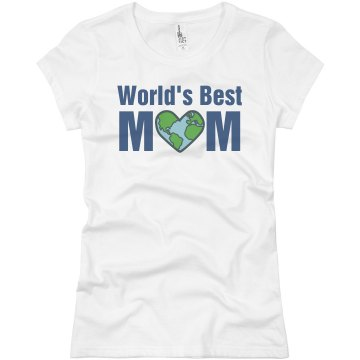 Worlds Best Mom Junior Fit Basic Bella Favorite Tee
