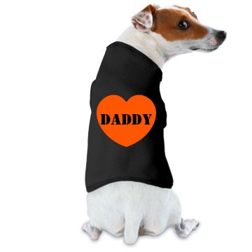 Daddy Dog Tee Doggie Skins Dog Ringer Tee