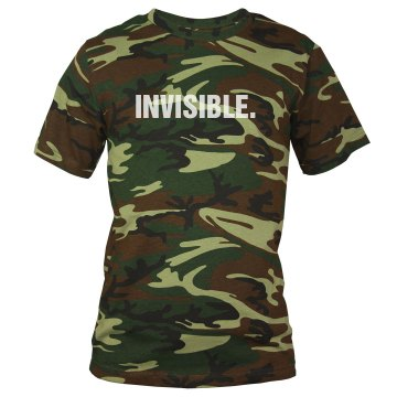 Invisible Costume Unisex Code V Camouflage Tee