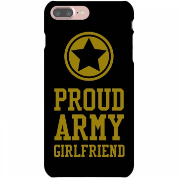 Proud Army Girlfriend Plastic iPhone 5 Case Black