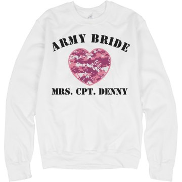 Army Bride Junior Fit Bella 1x1 Rib V-Neck Tee