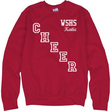 Cheer Crossed Down Unisex Hanes Crew Neck Sweatshirt
