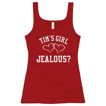 Tim&#x27;s Girl Junior Fit Bella Sheer Longer Length Rib Tank Top