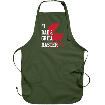 # 1 Dad Grill Apron Port Authority Adjustable Full Length Apron