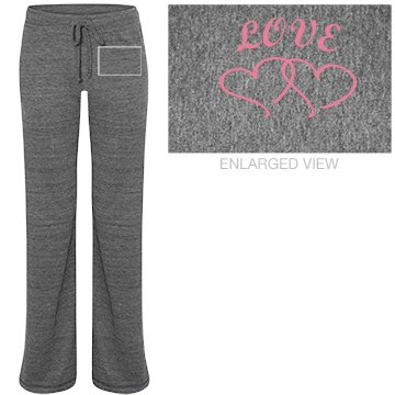 Love Pajama Pants Junior Fit Bella Straight Leg Fleece Sweatpant