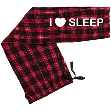 I Love Sleep PJ Pants Junior Fit Bella Straight Leg Fleece Sweatpant