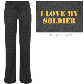 I Love My Marine PJ Pants Junior Fit Bella Straight Leg Fleece Sweatpant