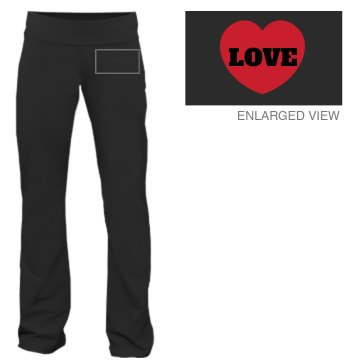 Love Heart Lounge Pants Junior Fit Bella Fitness Pants