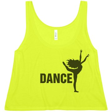 Dance Crop Misses American Apparel Neon Oversized Crop Tank