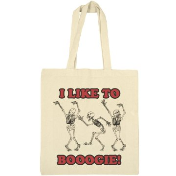Halloween Boogie Bag Liberty Bags Canvas Bargain Tote Bag