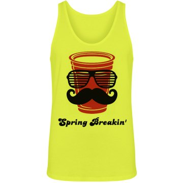 Classy Spring Break Cup Unisex American Apparel Neon Tank