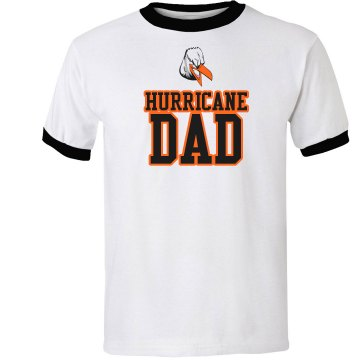 Hurricane Dad Unisex Anvil Ringer Tee