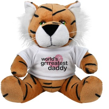 World's Greatest Daddy Plush Tiger