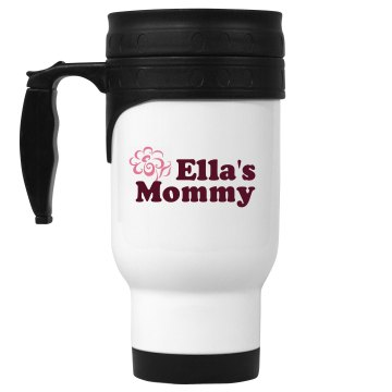 Ella's Mommy 14oz White Stainless Steel Travel Mug