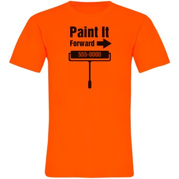 Paint It Business Tee Unisex American Apparel Neon Crew Neck Tee