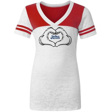 Heart Hands Tee Junior Fit Augusta 3&#x2F;4 Legacy Raglan Tee