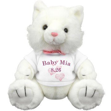 Baby Mia Pink Teddy Plush Baby Shower Teddy Bear
