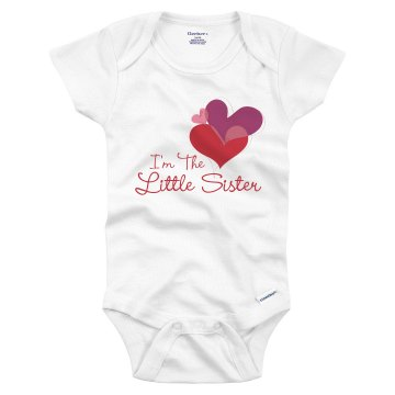 Little Sister Hearts Infant Gerber Onesies