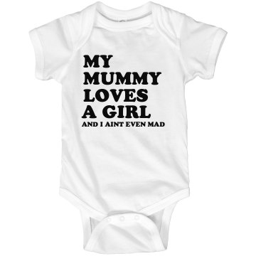 My Mummy Love Onesie Infant Rabbit Skins Lap Shoulder Creeper