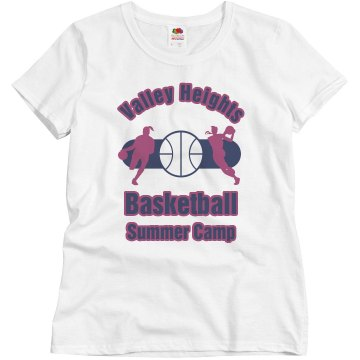 Valley Heights Basketball Misses Relaxed Fit Basic Gildan Ultra Cotton Tee