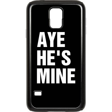 Aye He's Mine Smartphone Rubber Samsung Galaxy S III Case Black