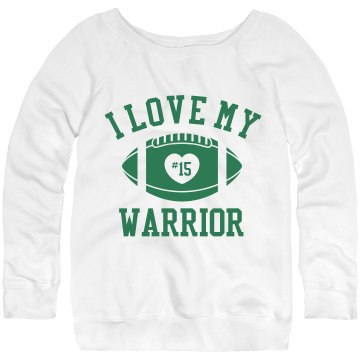 Warrior Sweatshirt w/Back Junior Fit Bella Triblend Slouchy Wideneck Sweatshirt